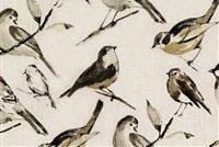Richloom BIRDWATCHER CHARCOAL Linen Blend Upholstery And Drapery Fabric