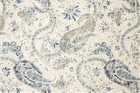 Richloom NAMASTE BLUEWATER Floral Linen Blend Upholstery And Drapery Fabric