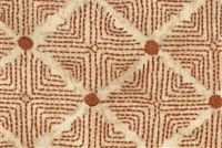 Ellen Degeneres WILSHIRE UMBER 250311 Lattice Embroidered Fabric