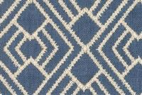 Ellen Degeneres CORDELL EMB INDIGO 250322 Lattice Embroidered Drapery Fabric