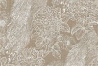 Waverly EXQUISITE CHALK 680200 Floral Linen Blend Upholstery And Drapery Fabric