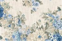 Waverly JULIET DERBY BLUEBELL 680130 Floral Print Upholstery And Drapery Fabric