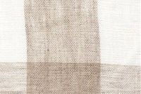 6728811 AUGUSTA PLAIDS NATURAL/IVORY Buffalo Check Linen Drapery Fabric