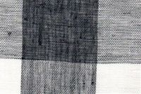 6728815 AUGUSTA PLAIDS CHARCOAL/IVORY Buffalo Check Linen Drapery Fabric