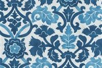 Waverly SNS ANIKA INDIGO 680310 Floral Indoor Outdoor Upholstery Fabric