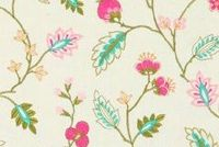 Covington AUGUSTA 75 SORBET Floral Embroidered Drapery Fabric