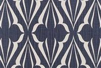 Scott Living Fabrics BISCAY SAPPHIRE Lattice Linen Blend Upholstery And Drapery Fabric