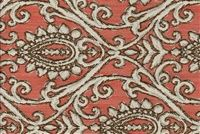 6744013 GARRISON CORAL Floral Jacquard Upholstery Fabric