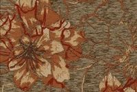 6744111 DEVON SIENNA Floral Jacquard Upholstery Fabric