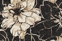 6744112 DEVON COAL Floral Jacquard Upholstery Fabric