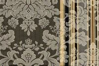 6746314 RENAISSANCE A BLACK/WHITE Floral Jacquard Upholstery And Drapery Fabric