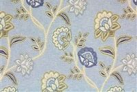 6748812 BOKARO VEL MINERAL BLUE Floral Print Upholstery And Drapery Fabric