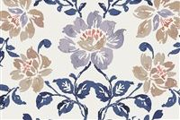 6752011 MASTERPIECE A BLUE DAISY Floral Linen Blend Upholstery And Drapery Fabric