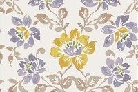 6752013 MASTERPIECE A VIOLET Floral Linen Blend Upholstery And Drapery Fabric