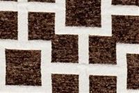 6753112 FRET MOCHA Lattice Chenille Upholstery And Drapery Fabric