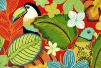 Swavelle Mill Creek BEAK IN THE WAY/FRESCO FIESTA Tropical Indoor Outdoor Upholstery Fabric