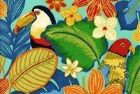 Swavelle Mill Creek BEAK IN THE WAY/FRESCO PACIFIC Tropical Indoor Outdoor Upholstery And Drapery Fabric