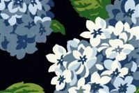 Magnolia Home Fashions SUMMER WIND NAVY Floral Print Upholstery And Drapery Fabric