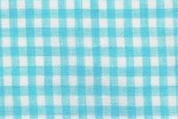 6759011 GINGHAM NEW BLUE Check Sheer Drapery Fabric
