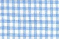 6759013 GINGHAM COOL BLUE Check Sheer Drapery Fabric