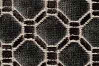 6762112 ASHFORD GUNMETAL Lattice Velvet Upholstery Fabric