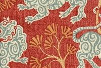 P Kaufmann LION DANCE SWA 002 ROUGE Print Upholstery And Drapery Fabric