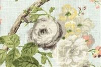 P Kaufmann MANOR HOUSE SWA 002 ZEPHYR Floral Linen Blend Upholstery And Drapery Fabric