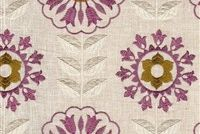 6763617 LONETO B ROSE Floral Embroidered Drapery Fabric