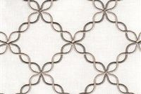 6763716 LONETO C IVORY Lattice Embroidered Drapery Fabric
