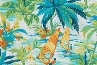 Tommy Bahama Home TBO WIND SURFERS MANGROVE 802230 Tropical Indoor Outdoor Upholstery Fabric