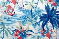 Tommy Bahama Home TBO WIND SURFERS AZUL 802231 Tropical Indoor Outdoor Upholstery Fabric