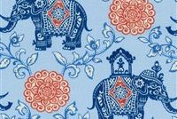 P/K Lifestyles OD CIRCUS MEDALLION CHAMBRAY 407 Floral Indoor Outdoor Upholstery Fabric