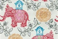 P/K Lifestyles OD CIRCUS MEDALLION FRUIT PUNCH Floral Indoor Outdoor Upholstery Fabric