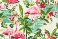 Waverly FLORIDIAN FLAMINGO IN BLOOM 6813 Tropical Print Fabric