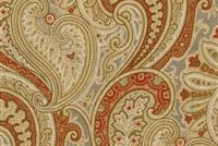 Waverly KNIGHTSBRIDGE AMBER 681453 Paisley Linen Upholstery And Drapery Fabric