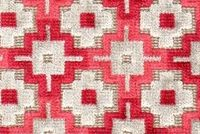 Richloom VECCHIO CRIMSON Lattice Velvet Fabric