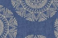 Richloom SASKIA BLUESTONE Embroidered Drapery Fabric