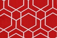 Performatex O'HEXAGON RED Lattice Indoor Outdoor Upholstery Fabric
