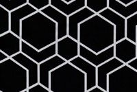 Performatex O'HEXAGON BLACK Lattice Indoor Outdoor Upholstery Fabric