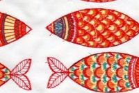 Performatex O'LIL CUTE FISH MULTI Tropical Indoor Outdoor Upholstery Fabric