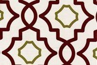 Magnolia Home Fashions BROOKSIDE RED Lattice Print Upholstery And Drapery Fabric