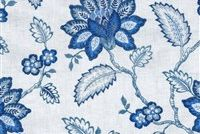 Waverly PERENNIAL EMB DELFT 654391 Floral Embroidered Drapery Fabric