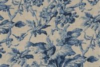 Waverly SOUTHERN BELLE MIDNIGHT 681640 Floral Linen Blend Upholstery And Drapery Fabric
