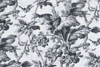 Waverly SOUTHERN BELLE CINDER 681641 Floral Linen Blend Upholstery And Drapery Fabric