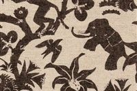 Novogratz MONKEY BUSINESS ONYX 180151 Tropical Linen Blend Upholstery And Drapery Fabric