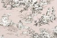 Covington M MUSEE 704 DUSTY ROSE Toile Print Upholstery And Drapery Fabric