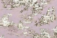 Covington M MUSEE 19 SMOKEY QUARTZ Toile Print Upholstery And Drapery Fabric