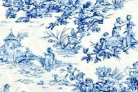 Covington M MUSEE BLUE Toile Print Upholstery And Drapery Fabric