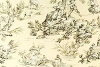 Covington M MUSEE 101 NATURAL Toile Print Upholstery And Drapery Fabric