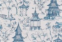 Lacefield Designs PAGODA SEASIDE Print Fabric